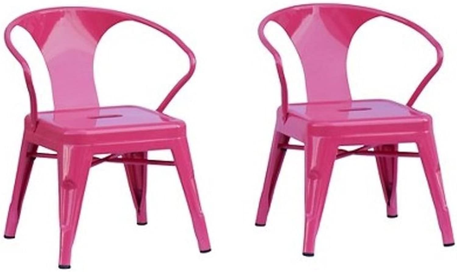 Reservation Seating Kids Steel Chair, Pink, One Size