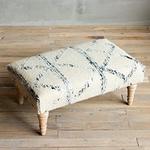 Optisk smak handgjord matta tyg pall bohème stil ändra sko pall färgglada geometriska mönster möbel pall måste samla F 65 x 36 x 28 cm (26 x 14 x 11 tum)
