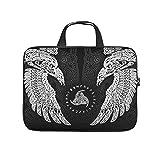 The Twin Ravens in Mitology, Viking,Huginn y Muninn,Odin Laptop Bag Slim High Capacity Zipper Multicolor 10-17 pulgadas para hombres y mujeres, blanco (Blanco) - Xuanwuyi45103