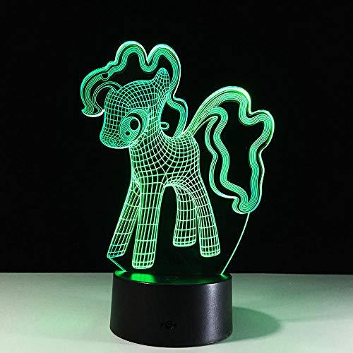 3D Led Ilusión de la Lámpara de 16 Color de la Luz de la Noche de la Luz de la Mesa LED Luz de Noche Colorido Degradado Ambiente Niño Amigo Bebé Lámparas Táctil Iluminación