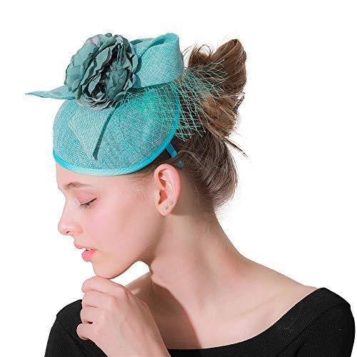 Ryyland-hair clip Sombrero tocados Fascinator Tea Party Banda for el Cabello Diadema...