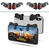 【2 Pair】 IFYOO Z108 Mobile Gaming Controller Compatible with PUBG Mobile/Knives Out/Rules of Survival - Sensitive Shoot and Aim Trigger L1R1 Compatible with Android & iPhone