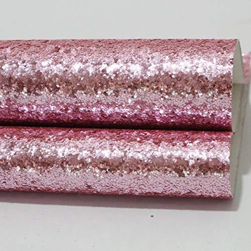 XUCZHAI Cuero Sintetico 3 unids 21cmx29cm A4 Chunky Glitter Sintético Sintético Hoja de Cuero Glitter PU Tejido de Cuero DIY Arcos Material Artículos de Manualidades Polipiel para Tapizar