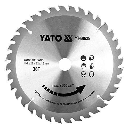 discos sierra circular madera YATO (36 dientes) profesional- discos para sierra circular, corte madera ingletadora disco sierra madera para sierra circular en Widia diseñada para el corte transversal