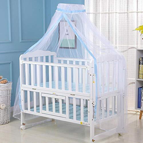 WYCYZJ Klamboe Babybed Klamboe Mesh Dome Gordijnnet voor Peuter Wieg Kinderbed LuifelBlauw witte kleur, Groen