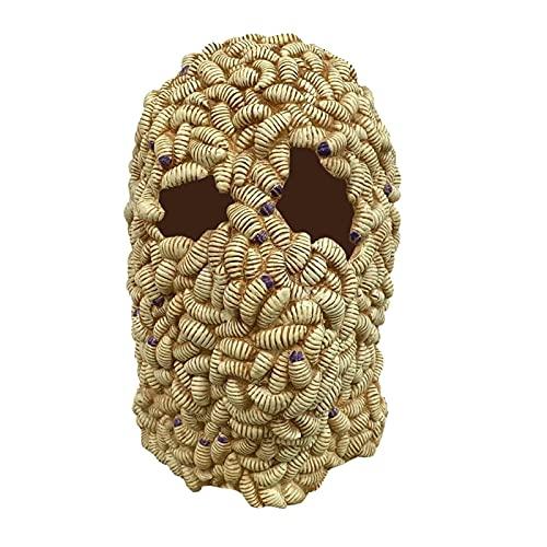 ハロウィーンスリラーマスク高密度ウォームマスクファッションスーパーソフトヘッドギア (Color : B, サイズ : One Size)