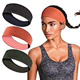 isnowood Sweat Bands Headbands for Women Workout Headbands Non Slip Head Bands for Yoga Running Sports Gym