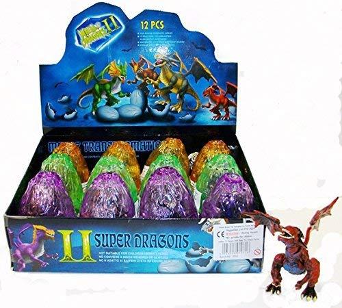 Dragones constructibles en huevos color de cristal x 3, relleno ideal de la bolsa del...