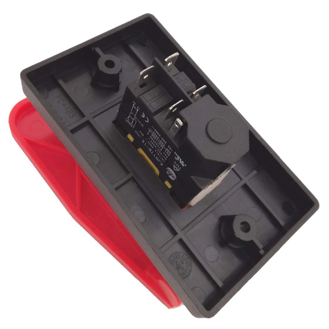 KEDU KJD17B-16 230V NVR Pushbutton Switches Large Flap Push Button Switch 2021