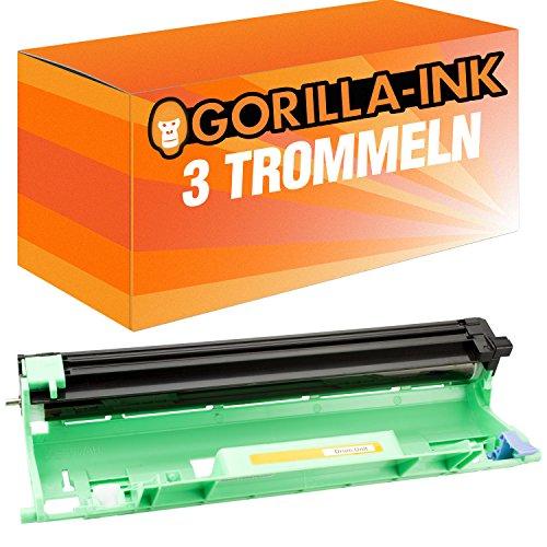 Gorilla de Ink® 3tambor XXL compatible con Brother DR de 1050TN-1050DCP-1510DCP-1512DCP-1512A DCP de 1601DCP-1610W DCP-1612W HL de 1110Series