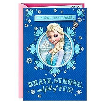 Hallmark Birthday Card for Girl  Elsa Frozen Charm Bracelet