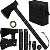 iunio Camping Axe, Hatchet with Sheath, Multi-Tool, Camp Ax, Survival Gear,...