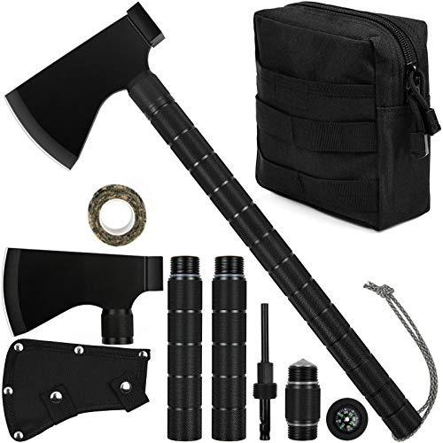 iunio Camping Axe, Hatchet with Sheath, Multi-Tool, Camp Ax,...
