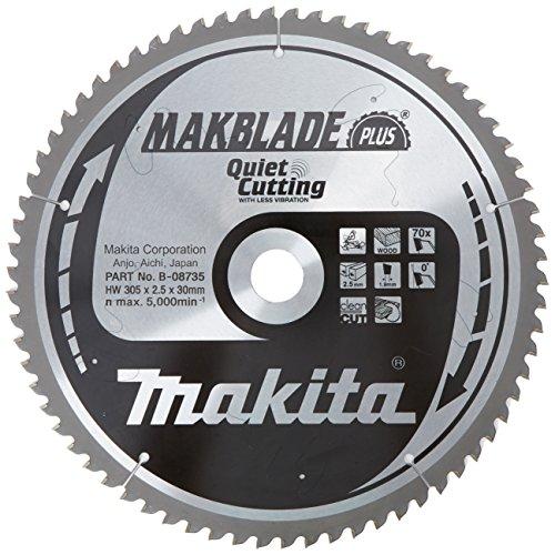 Makita Makblade Plus b-08735Kreissägeblatt leise Schneiden 305mm