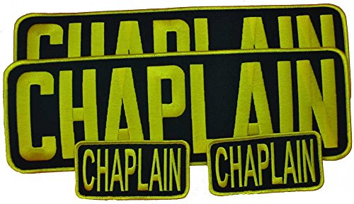 Chaplain Embroidered Patch Combo Set of 4 Patches