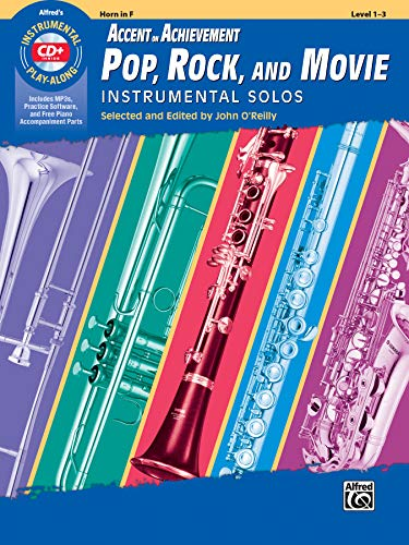 Aoa Pop, Rock, and Movie Instrumental Solos: Horn in F, Book & CD