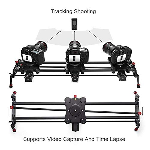 """GVM Camera Motorized Slider,48""""/120CM,Automatic Round Trip,Time Lapse,Panoramic Shooting,Video Capture,Slider Smooth and Stable,with Battery"""