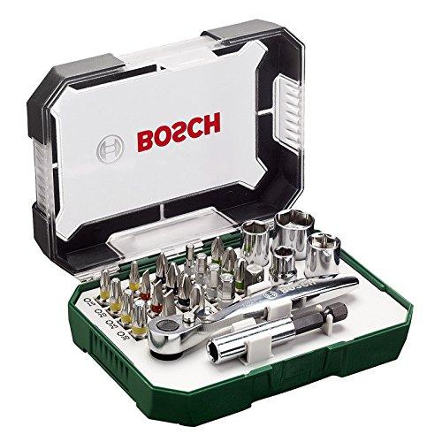 BOSCH (ボッシュ) 2607017322 ラチェット スクリュードライバービット セット 26ピース