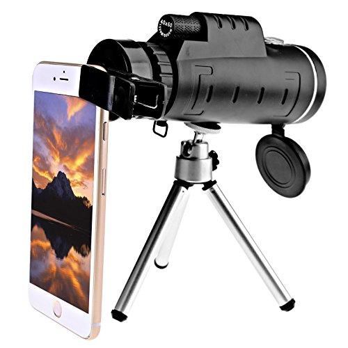 40X60 HD OPTIK Fernrohr BAK4 Nachtsicht Monokular Spektiv Ferngläser Teleskop
