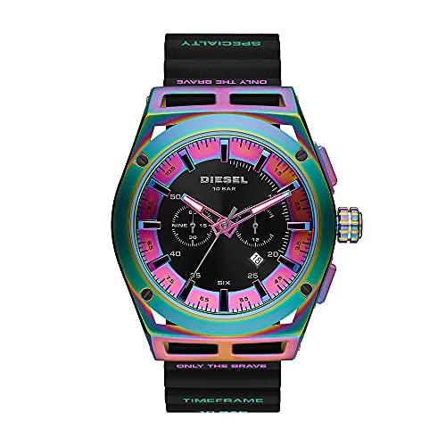 Diesel Herren Analog Quartz Uhr mit Silicone Armband DZ4547