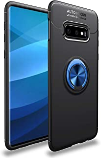 Avalri Samsung Galaxy S1 Lite Case, Shock-Absorption Anti-Scratch Thin Soft 360 Degree Rotating Ring Kickstand Cover with Car Mount for Galaxy S1 Lite (Black-Blue)