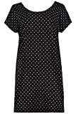 Ulla Popken Damen große Größen Nachthemd schwarz 46/48 723993 10-46+