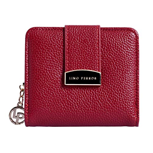 Lino Perros Black Faux Leather Womens Wallet (RED)