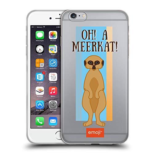 Head Case Designs Oficial Emoji® Mero Gato Suricata Carcasa de Gel de Silicona Compatible con Apple iPhone 6 Plus/iPhone 6s Plus