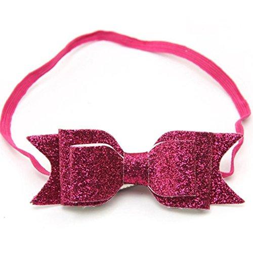 Filles Paillettes Big Bow noeud élastique Bandeau Cheveux Headwear Bandeau