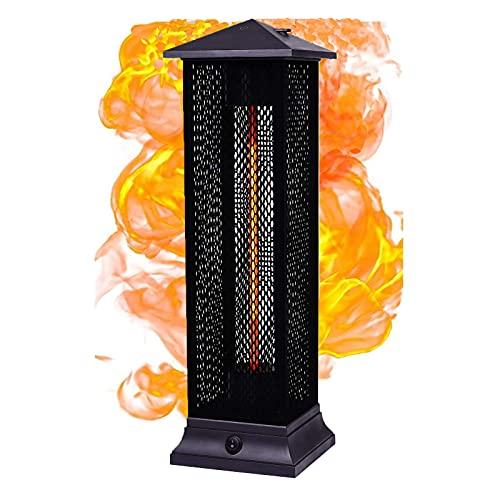 JKGCHKJYTYH Exterior Eléctrico Calentador De Terraza,Ahorro Energético Ip55 Impermeable Calefactor Vertical,Prevención De Sobrecalentamiento Calentador Rápido Calentador Infrarrojo