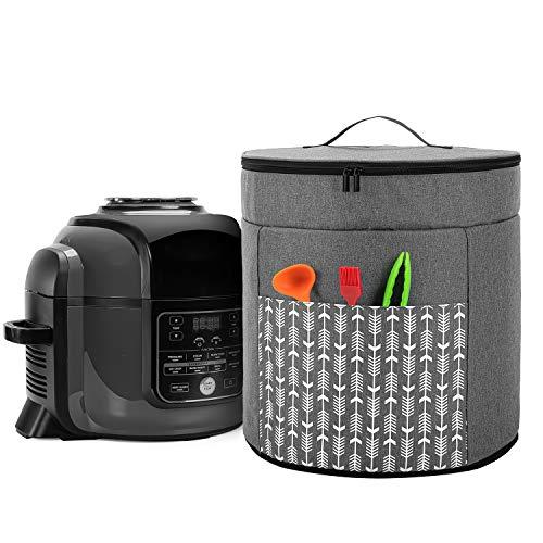 Yarwo Ninja Multi Cooker Multikocher Abdeckung, Abdeckhaube für Ninja Elektrisch Schnellkochtopf, Schutzhülle für Slow Cooker Zubehör, Grau mit Pfeilmuster