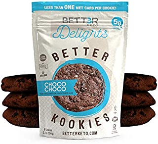 Healthy Keto Snacks Chocolate Cookies by Bett3r Keto | Low Carb High Fat | Ketogenic, Primal, Paleo, Atkins | Almond Flour, Sugar Free, Dairy and Gluten Free, All natural Ingredients| 24 Cookies