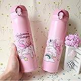Livsmart Premium Quality Stainless Steel Unicorn Water Bottle for Kids | Vacuum Flask