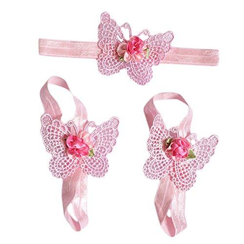 ZN, Chaussures souples pour bébé (fille) rose rose taille unique