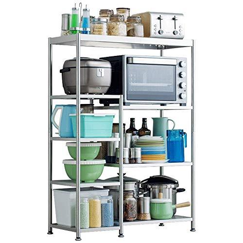 W-SHTAO L-WSWS Estante de cocina de pie estante de cocina de 5 capas, estante de especias para microondas, estante de almacenamiento multifunción