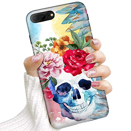 IMD IMD0068 - Carcasa para iPhone 8 Plus, iPhone 7 Plus, diseño de Calavera de azúcar Muerta