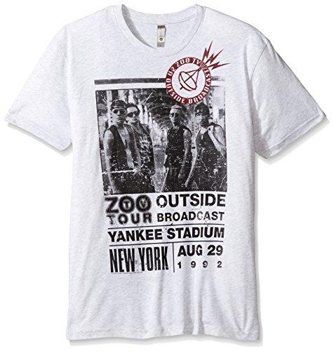 FEA U2 Herren T-Shirt Zoo Outside Tour Slim Fit - Weiß - Klein