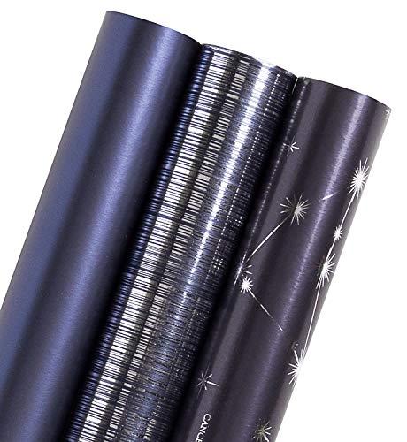 WRAPAHOLIC包装紙760mm×3m4巻-ダークブルー