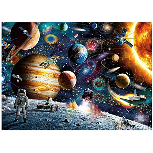BURFLY 1000 Pieces Space Jigsaw Puzzles for Adults, Themes Puzzle Sets for Family, Cardboard Puzzles, Educational Games, Brain Challenge Puzzle for Kids Childrens