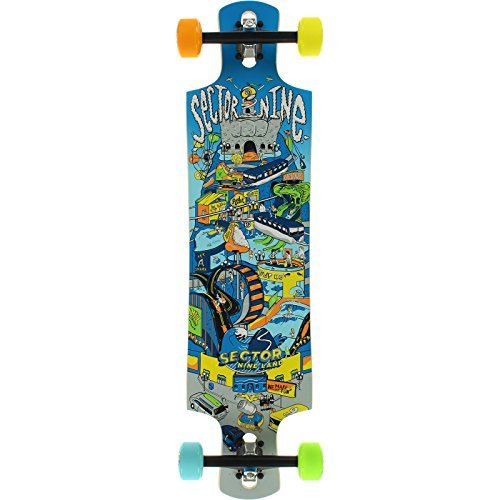 Sector 9 Drop-Thru Catapult Complete Skateboard - 9.5 x 37.75 by Sector 9