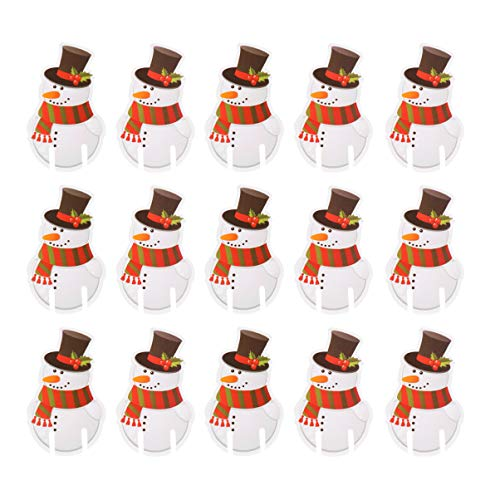 Amosfun 100pcs Vasos de Vino de Navidad marcadores de Tarjetas marcadores de Bebidas de Papel Vasos de Navidad...