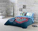 NATURALS Ariana Funda nórdica, algodón, Azul, Cama 135 cm