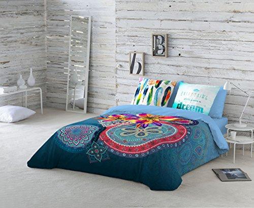 NATURALS Ariana Funda Nórdica, algodón, Azul, Cama 105 Cm