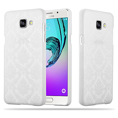 Cadorabo Samsung Galaxy A5 2016 Hardcase Hülle in WEIß Blumen Paisley Henna Design Schutzhülle – Handyhülle Bumper Back Hülle Cover