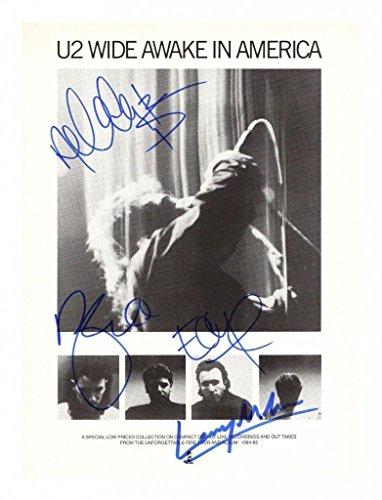 U2 Signiert Autogramme 21cm x 29.7cm Plakat Foto