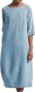 Women Vintage Casual Maxi Dress Chinese Style Layers Boho Long Dress
