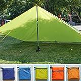 Toldo de lona protector del sol impermeable y ultraligero para acampada, senderismo, pesca, pícnic...