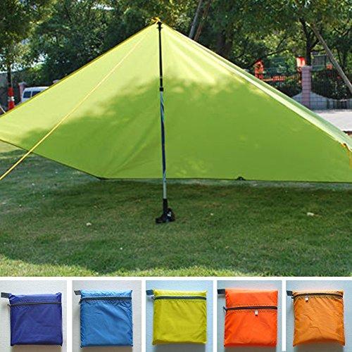 Toldo de lona protector del sol impermeable y ultraligero para acampada, senderismo, pesca, pícnic y playa. Uso como cojín o refugio de supervivencia. Color verde