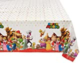 Amscan 571554 Super Mario Brothers Multicolor Plastic Table Cover, Party Favor 54' x 96' 1 ct