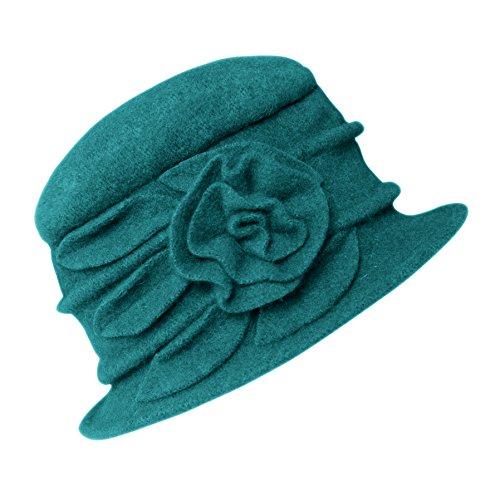 Urban GoCo Damen Vintage Bucket Hut Wintermütze Beret (#1 Kallaite)